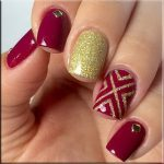 Dark red and gold nail art designs to spice up your beauty inspiration