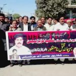 Protest held against brutal murder of senior journalist