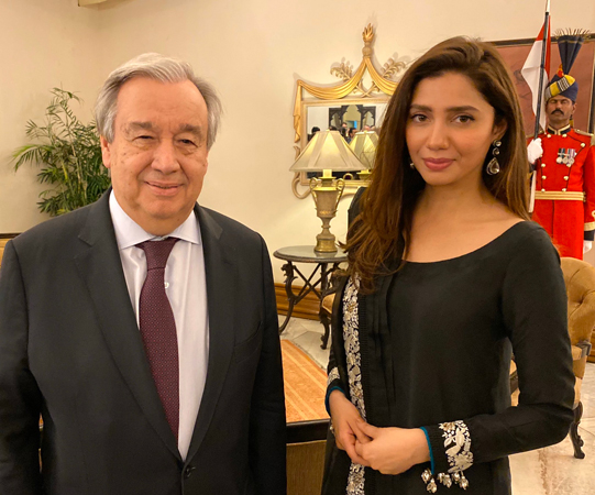 UN chief thanks Mahira for raising awareness about plight of refugees