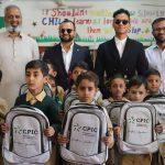 Jaafar Jackson visits a TCF school in Korangi