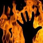 Man sets fire to wife who didn't get pregnant