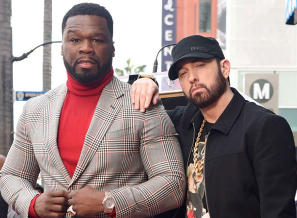 Eminem & Dr. Dre salute 50 Cent at Walk of Fame ceremony