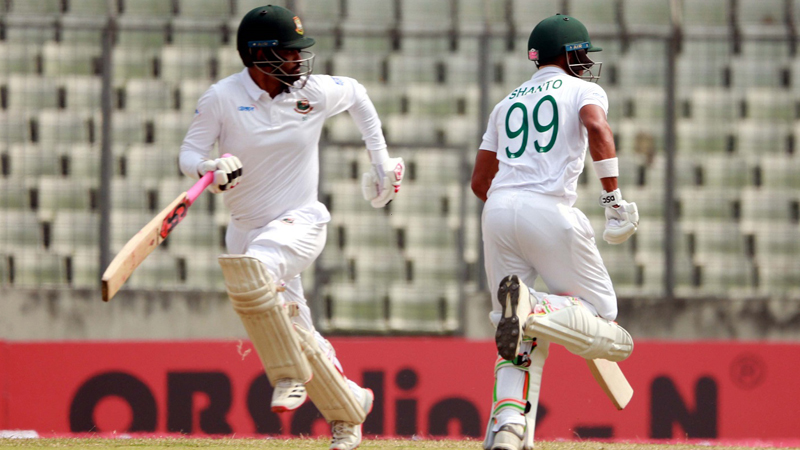 Mominul closing on century as Bangladesh near first-innings lead