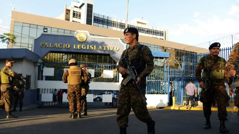 El Salvador president accused of 'attempted coup'