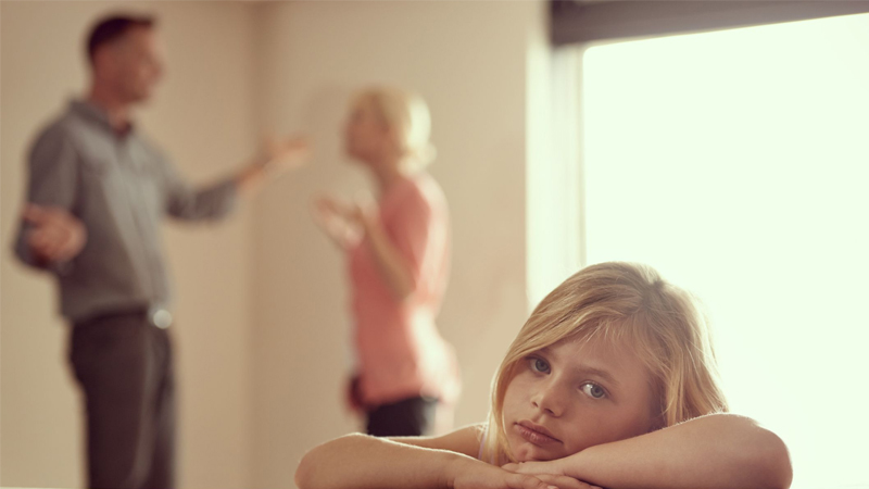 Quarrelling parents damage developing minds