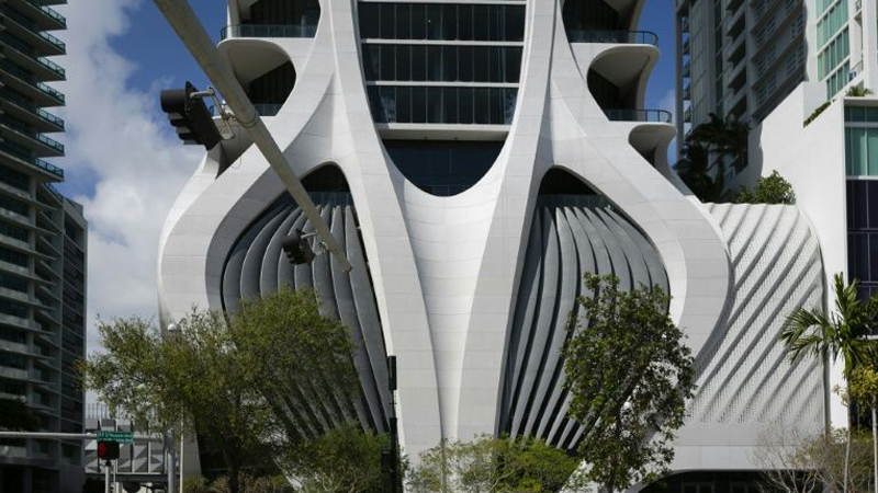 Zaha Hadid's 'exoskeleton' tower an instant Miami landmark