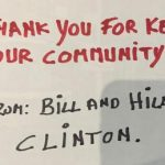 Bill and Hillary Clinton send over 400 pizzas to New York hospital workers