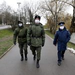 Silver lining? Russia's Cossacks don modified masks against coronavirus