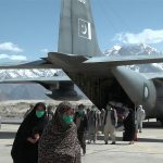 PAF C-130 aircraft carrying pilgrims from Dalbandin lands in Skardu