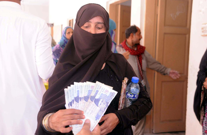 Disbursement of Rs 12,000 cash among deserving families starts