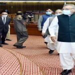 COVID-19: President visits Parliament House to review SOPs for budget session