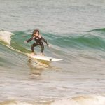 Nine-Year-old Balochi Girl surfing on waves break the internet