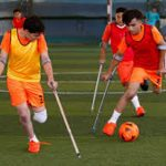 Young Gaza amputees play soccer again after coronavirus curbs eased
