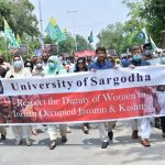 Sargodha University commemorated 'Kashmir Siege Day' in solidarity with Kashmiris