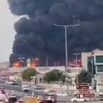 The fire at the vegetable market in Ajman was extinguished after 3 hours