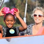 Charlize's daughters make a special appearance during her virtual birthday party