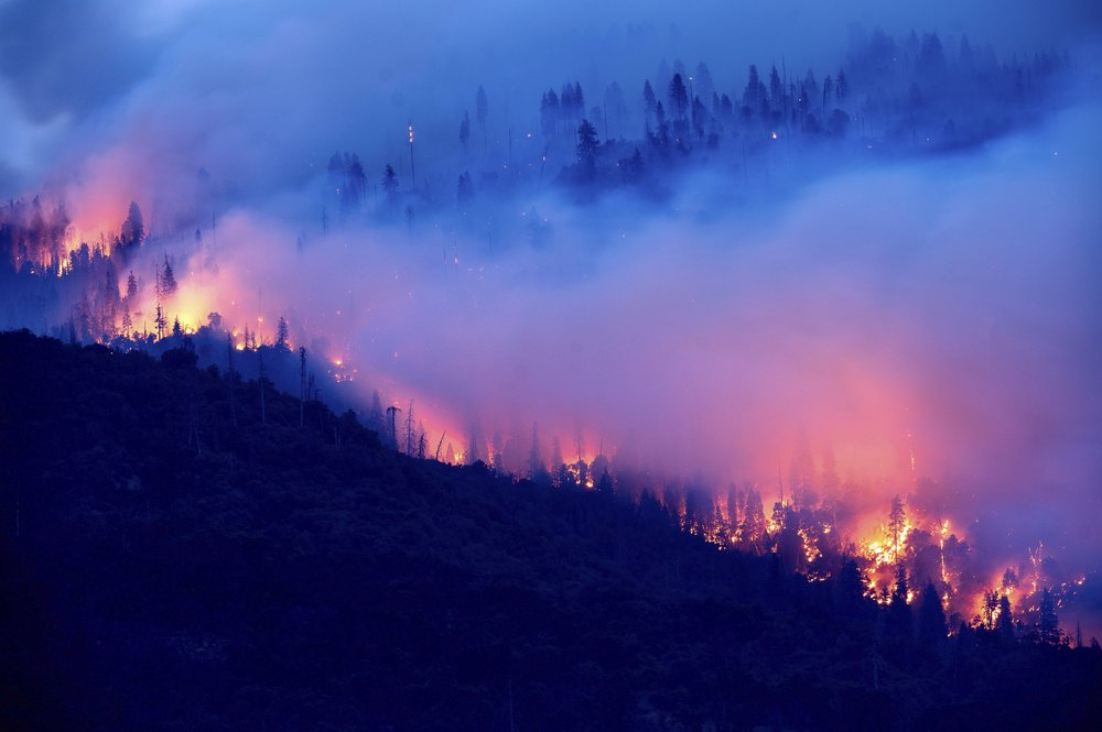 As California burns, the winds arrive and the lights go out