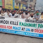 Protest in Kashmir on Narendra Speech at UNGA