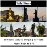 Symbolic statues bringing war-torn Mosul back to life