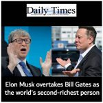 Elon Musk overtakes Bill Gates as the world's second-richest person