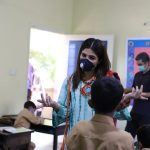 Ayesha Omar visits a TCF school in Garden East