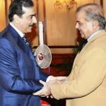 Former PM Gilani and sons meet with Shahbaz Sharif, offered condolences