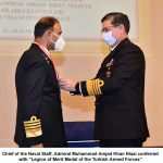 "CHIEF OF THE NAVAL STAFF ADMIRAL MUHAMMAD AMJAD KHAN NIAZI CONFERRED WITH ""LEGION OF MERIT OF THE TURKISH ARMED FORCES"" AT TURKEY"