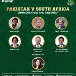 Leading international commentators lined-up for Pak-SA series