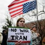 No War with Iran! We want Diplomacy!