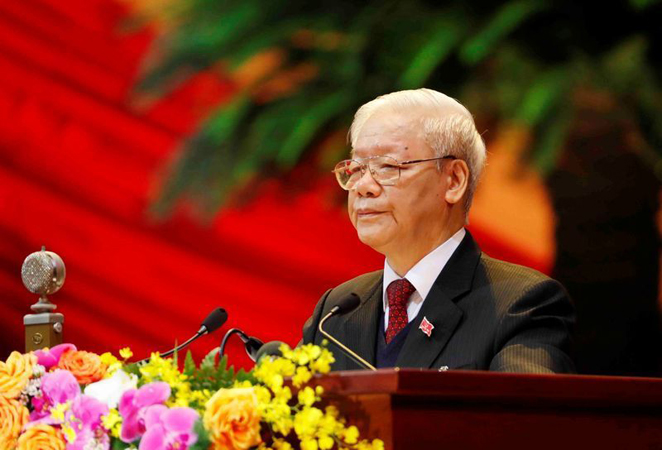 Nguyen Phu Trong re-elected as Party General Secretary of 13th tenure