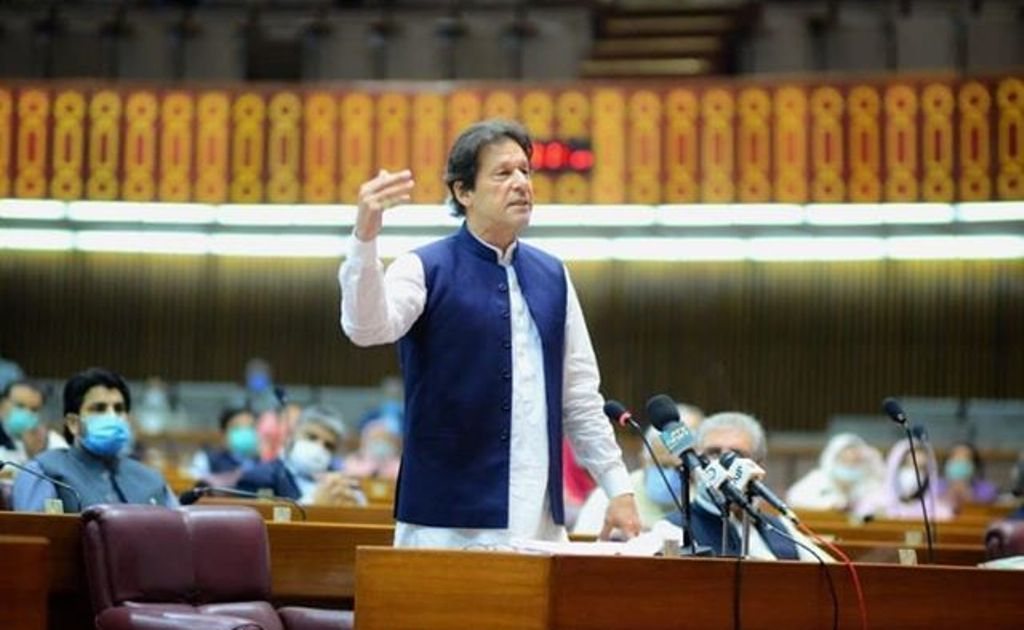 """""""I Will Fight Till The Last Ball,"""" PM Khan while addressing NA"""