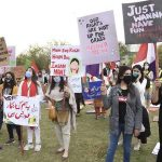 Int'l Women's Day: women hold march for protection of rights