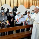 Pope Francis visits Iraqi Christians who suffered under IS