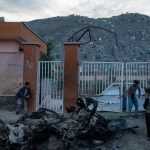 Bodies of school blast victims buried at Kabul's hilltop cemetery