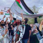 Bella attends pro-Palestine rally