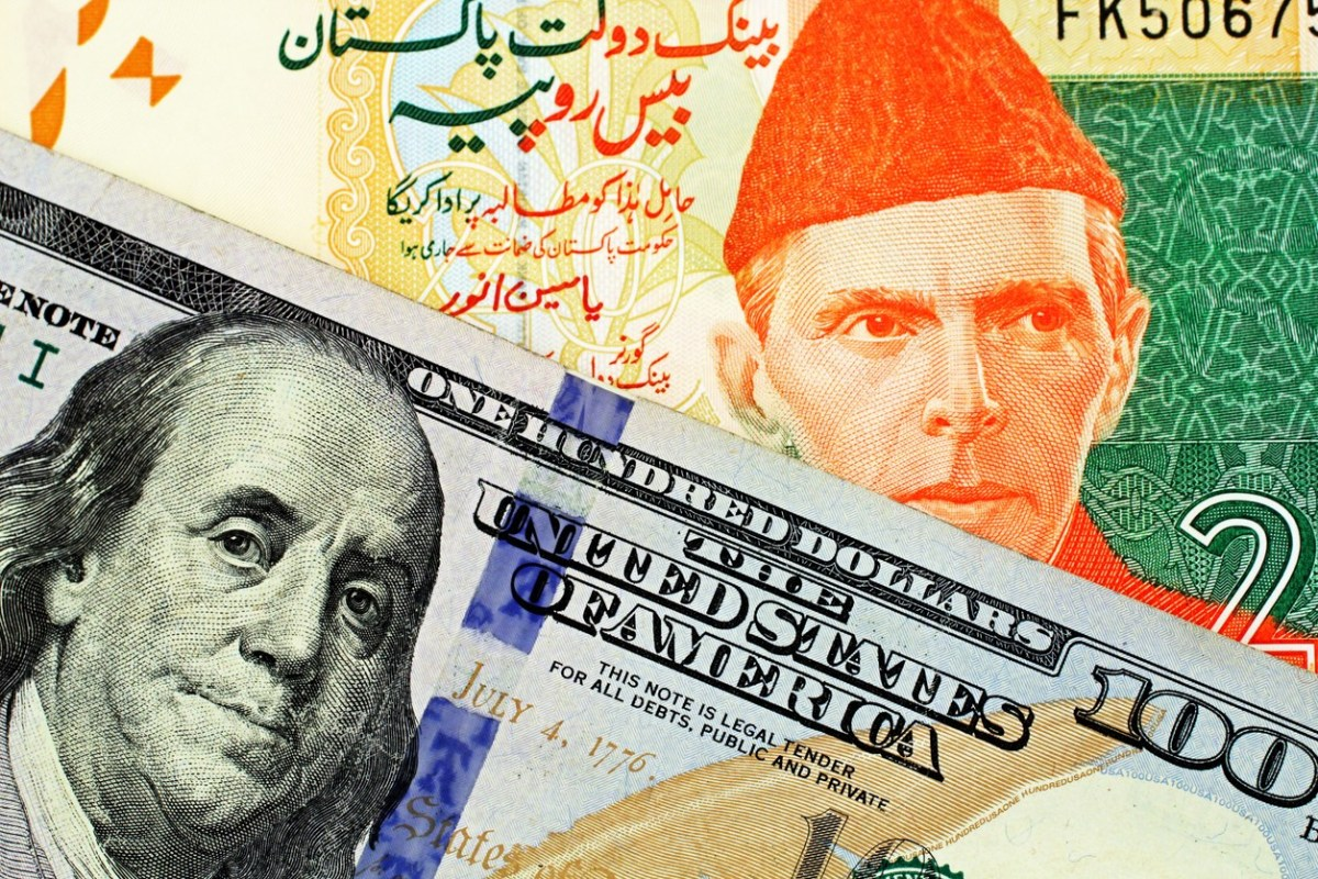 Rupee falls against dollar