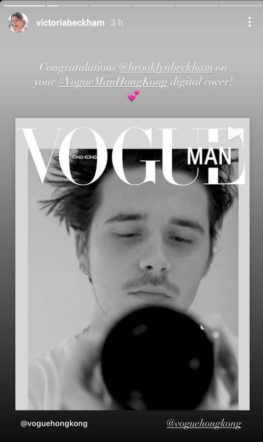 Brooklyn Beckham lands cover of Vogue HongKong