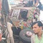 Two killed, 10 injured in road accident in Hub