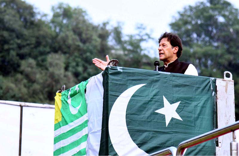Imran Khan asks people of Kashmir to vote for the party with honest leader - Daily Times