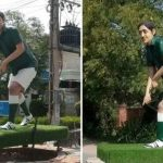Hockey, ball from Samiullah's statue goes missing