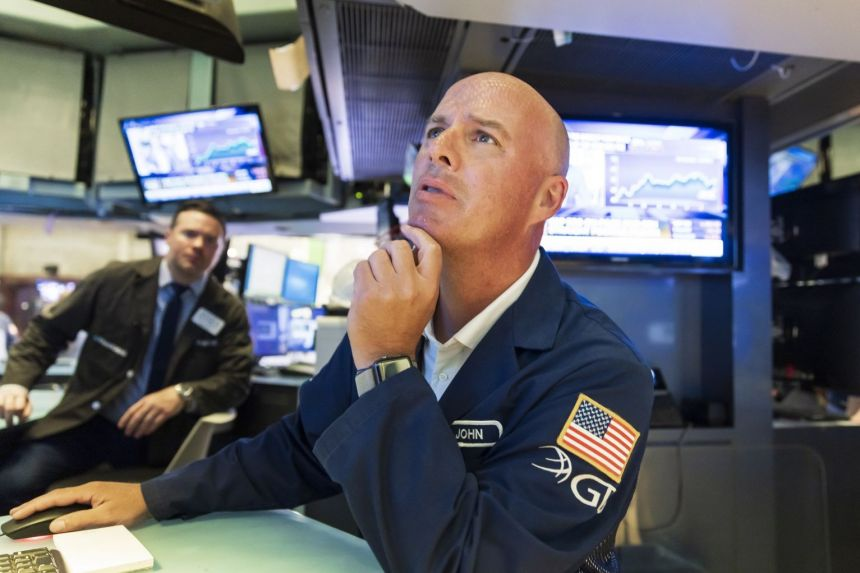 US stocks fall on Delta worries, profit taking