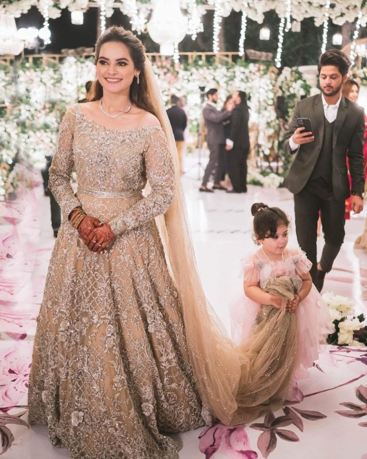 Minal Khan with her Nephew Amal Lovely Pictures at Walima 1