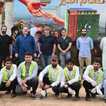 Haroon Rashid visits a mobile dastarkhawan to distribute  meals among the underprivileged
