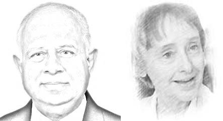 Ikram Sehgal and Dr Bettina Robotika