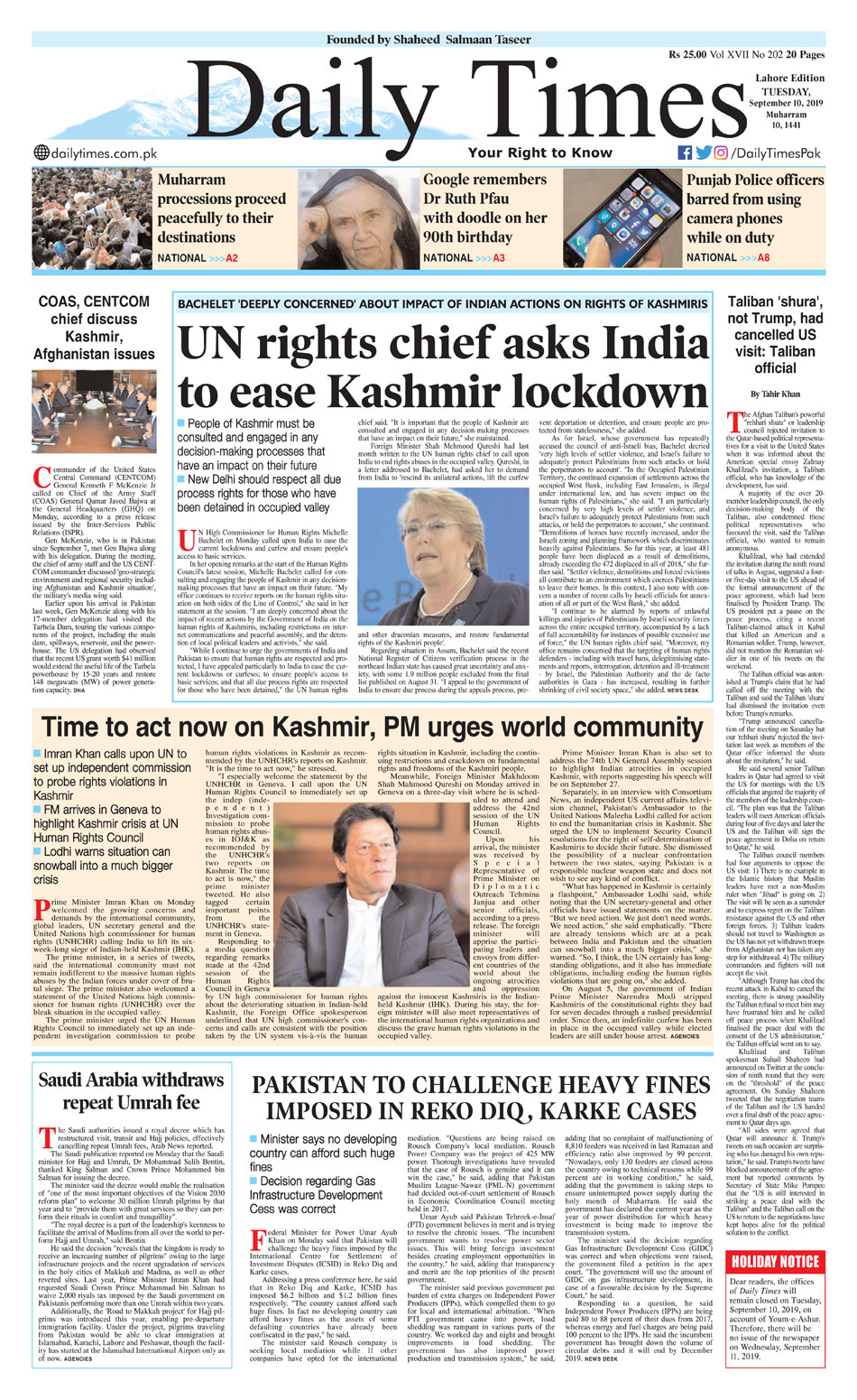 Today's E-Paper - Daily Times